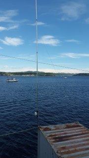 Ny antenne på Croftholmen.