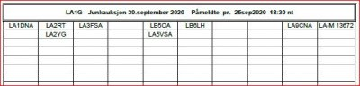 Medlemsmøte - Junkauksjon -  Croftholmen